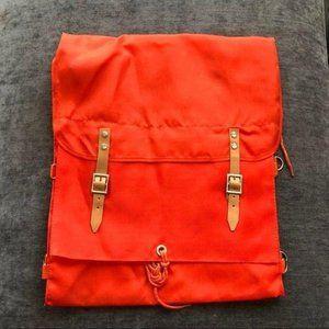 Orange Backpack Camping Vintage Retro Trendy NWT